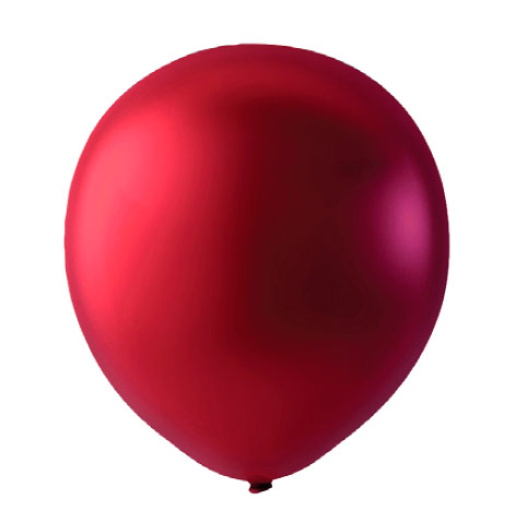 Blöðrur 30cm 100stk Metallic Cherry Red