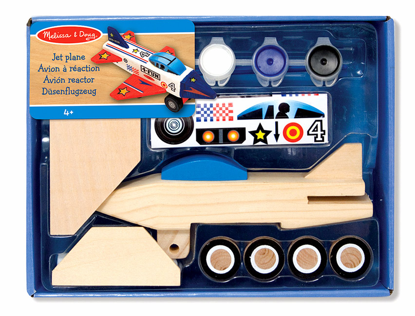 Leikföng Decorate-Your-Own Wooden Jet Plane