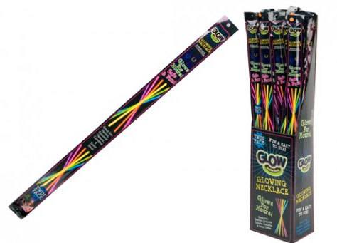 Partývörur Glow Sticks Twin Pack Hálsmen